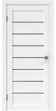 Межкомнатная дверь RM003 (экошпон «белый FL», лакобель черный) — 9072