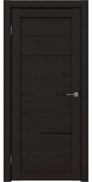 Межкомнатная дверь RM003 (экошпон «венге FL», лакобель черный) — 9075