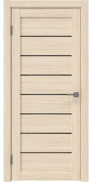 Межкомнатная дверь RM003 (экошпон «беленый дуб FL», лакобель черный) — 9078