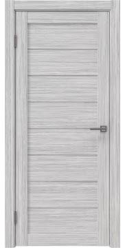 Межкомнатная дверь, RM003 (экошпон серый дуб FL, лакобель белый)