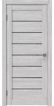 Межкомнатная дверь RM003 (экошпон «серый дуб FL», лакобель черный) — 9081