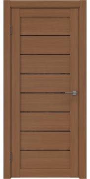Межкомнатная дверь, RM003 (экошпон орех FL, лакобель черный)