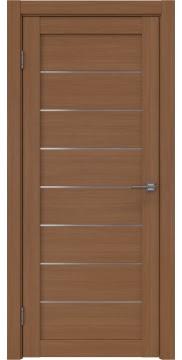 Межкомнатная дверь, RM003 (экошпон орех FL, матовое стекло)