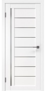 Межкомнатная дверь, RM004 (экошпон белый, матовое стекло)