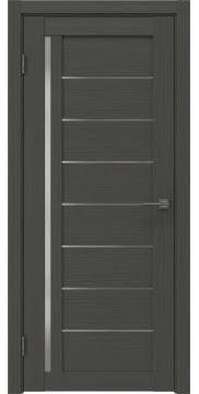 Межкомнатная дверь, RM004 (экошпон грей, матовое стекло)