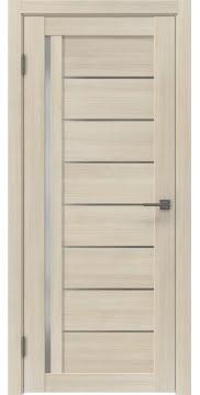 Межкомнатная дверь, RM004 (экошпон капучино, матовое стекло)