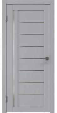 Межкомнатная дверь RM004 (экошпон серый / матовое стекло) — 0781