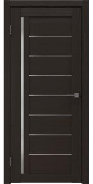 Межкомнатная дверь RM004 (экошпон «венге» / матовое стекло)