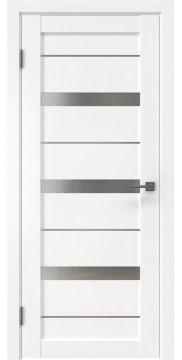 Межкомнатная дверь RM005 (экошпон белый / матовое стекло) — 0046