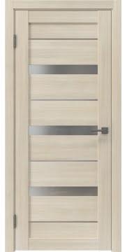 Остекленная дверь, RM005 (экошпон капучино, матовое стекло)