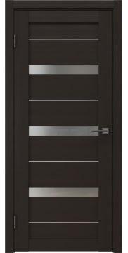 Межкомнатная дверь, RM005 (экошпон венге, матовое стекло)