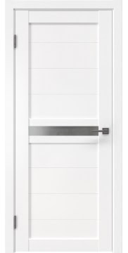 Межкомнатная дверь RM006 (экошпон белый / матовое стекло)