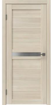 Межкомнатная дверь, RM006 (экошпон капучино, матовое стекло)
