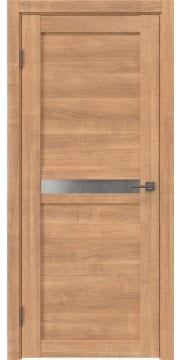 Межкомнатная дверь, RM006 (экошпон миндаль, матовое стекло)