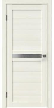 Межкомнатная дверь, RM006 (экошпон сандал, матовое стекло)