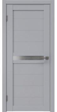 Межкомнатная дверь RM006 (экошпон серый / матовое стекло) — 0773
