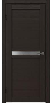 Межкомнатная дверь, RM006 (экошпон венге, матовое стекло)