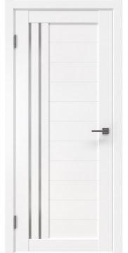 Межкомнатная дверь, RM007 (экошпон белый, матовое стекло)