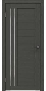 Межкомнатная дверь, RM007 (экошпон грей, матовое стекло)