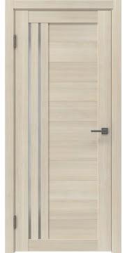 Межкомнатная дверь, RM007 (экошпон капучино, матовое стекло)