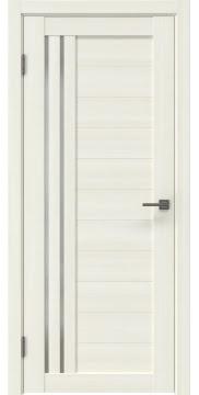 Межкомнатная дверь, RM007 (экошпон сандал, матовое стекло)