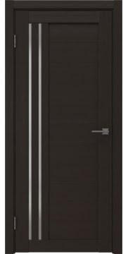 Межкомнатная дверь, RM007 (экошпон венге, матовое стекло)