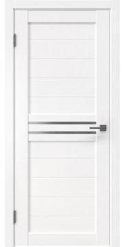 Межкомнатная дверь RM008 (экошпон белый / матовое стекло)