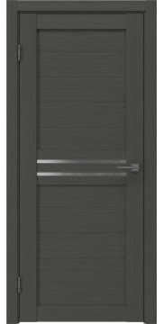 Межкомнатная дверь, RM008 (экошпон грей, матовое стекло)