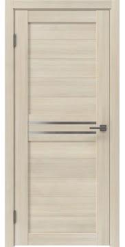 Межкомнатная дверь, RM008 (экошпон капучино, матовое стекло)