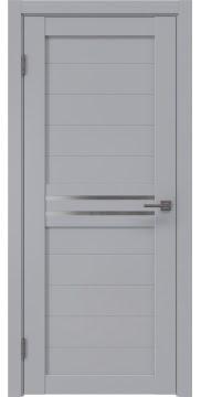 Межкомнатная дверь RM008 (экошпон серый / матовое стекло) — 0779