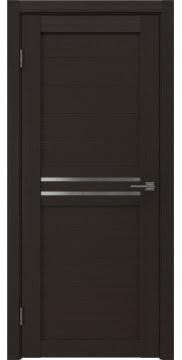 Межкомнатная дверь, RM008 (экошпон венге, матовое стекло)