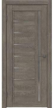 Межкомнатная дверь RM009 (экошпон «серый дуб» / матовое стекло) — 0098