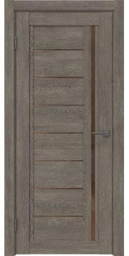 Межкомнатная дверь RM009 (экошпон «серый дуб» / стекло бронзовое) — 0099