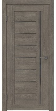 Межкомнатная дверь RM009 (экошпон «серый дуб» / стекло графит) — 0100