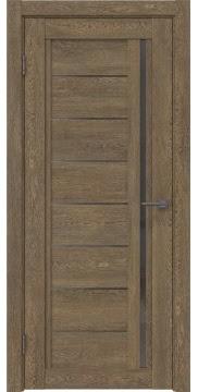 Межкомнатная дверь RM009 (экошпон «дуб антик» / стекло графит) — 0094