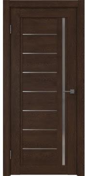 Межкомнатная дверь RM009 (экошпон «дуб шоколад» / матовое стекло) — 0101