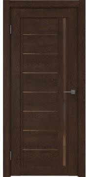 Межкомнатная дверь RM009 (экошпон «дуб шоколад» / стекло бронзовое) — 0102