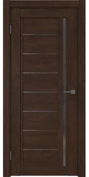 Межкомнатная дверь RM009 (экошпон «дуб шоколад» / стекло графит) — 0103