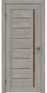 Межкомнатная дверь RM009 (экошпон «дымчатый дуб» / стекло бронзовое) — 0105