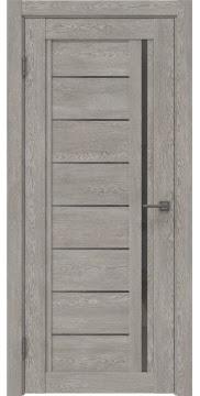 Межкомнатная дверь RM009 (экошпон «дымчатый дуб» / стекло графит) — 0106