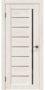 Межкомнатная дверь RM009 (экошпон «белый дуб» / стекло графит) — 0097