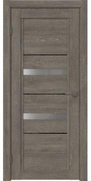 Межкомнатная дверь RM010 (экошпон «серый дуб» / матовое стекло) — 0113