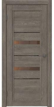 Межкомнатная дверь RM010 (экошпон «серый дуб» / стекло бронзовое) — 0114