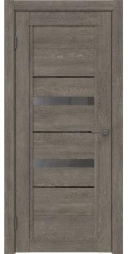 Межкомнатная дверь RM010 (экошпон «серый дуб» / стекло графит) — 0115