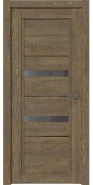 Межкомнатная дверь RM010 (экошпон «дуб антик» / стекло графит) — 0109