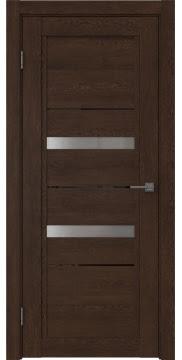 Межкомнатная дверь RM010 (экошпон «дуб шоколад» / матовое стекло) — 0116