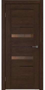 Межкомнатная дверь RM010 (экошпон «дуб шоколад» / стекло бронзовое) — 0117