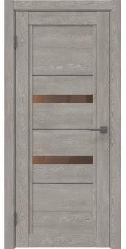 Межкомнатная дверь RM010 (экошпон «дымчатый дуб» / стекло бронзовое) — 0120