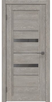 Межкомнатная дверь RM010 (экошпон «дымчатый дуб» / стекло графит) — 0121