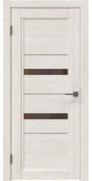Межкомнатная дверь RM010 (экошпон «белый дуб» / стекло бронзовое) — 0111